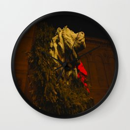 Chicago's Lions in Winter #2 (Chicago Christmas/Holiday Collection) Wall Clock