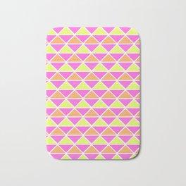 Triangle pattern – pink orange yellow Bath Mat