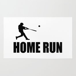 home run baseball sports hobby Rug