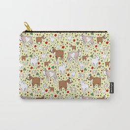 Goat Pattern Carry-All Pouch