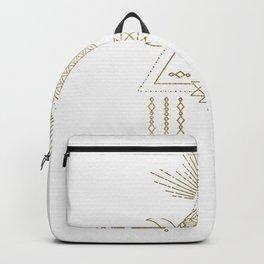Golden Goddess Mandala Backpack