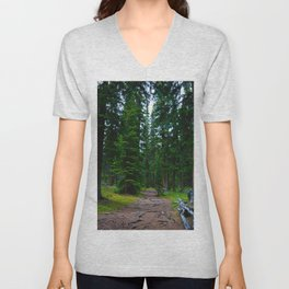 Path to the Alpine ... Wilcox Pass Hike in Jasper National Park, Canada Unisex V-Neck