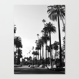 Los Angeles Black and White Canvas Print