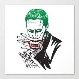 Joker_Jared Leto_Suicide Squad Canvas Print