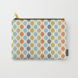 Retro Circles Mid Century Modern Background Carry-All Pouch