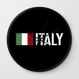 Italy: Italy & Italian Flag Wall Clock