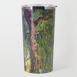1918-Claude Monet-Weeping Willow-99 x 120 Travel Mug