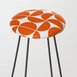 Mid Century Modern Geometric 04 Orange Counter Stool