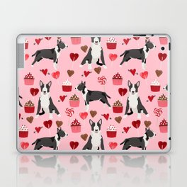 Bull Terrier valentines day love cupcakes hears dog breed pet friendly gifts Laptop & iPad Skin