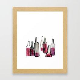 Wine Bottles 2 Framed Art Print