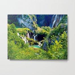 Plitvice Lake Forest Metal Print