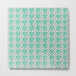Clover Pattern Green Metal Print
