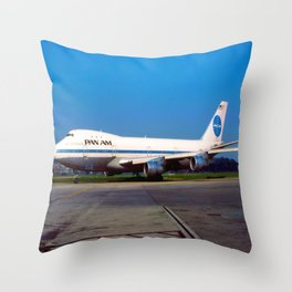 PanAm 747 Clipper Throw Pillow