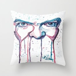 Bowie Watercolor  Throw Pillow