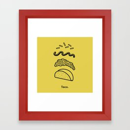 Taco Puzzle  Framed Art Print
