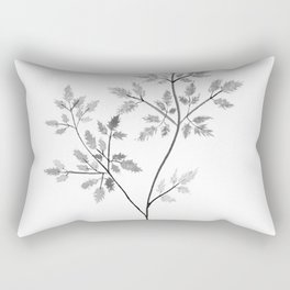 Chervil in Black and White Rectangular Pillow