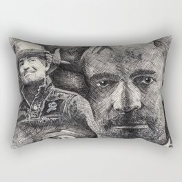 Gord Downie  Tribute Pen & Ink Drawing Rectangular Pillow