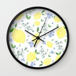 Fresh Lemon Serenade Wall Clock