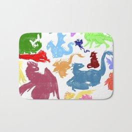 Many Colorful Dragons Bath Mat