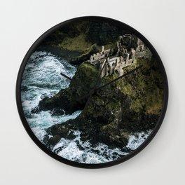 Castle ruin by the irish sea - Landscape Photography Wall Clock