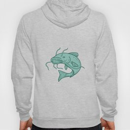 Catfish Mud Cat Jumping Mono Line Hoody
