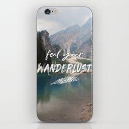 Feel your Wanderlust iPhone Skin