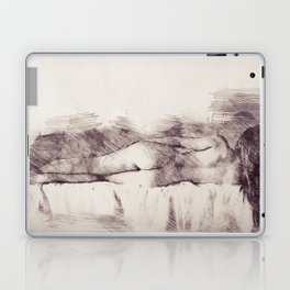 Lying on the bed. Nude studio Laptop & iPad Skin