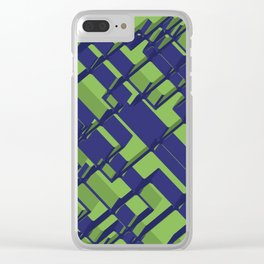 3D Abstract Futuristic Background III Clear iPhone Case