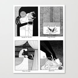 Shakespearean Death Scenes--Set of 4 (#2) Canvas Print