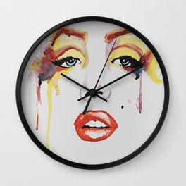Cryin Monroe Wall Clock