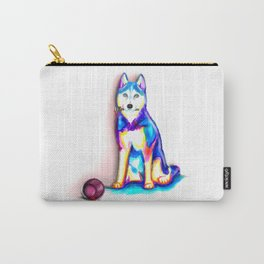 Husky with Paint Carry-All Pouch