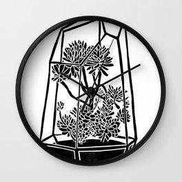 Terrarium Block Print Wall Clock