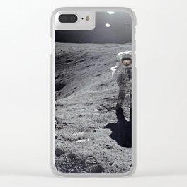 Apollo 16 - Plum Crater Clear iPhone Case