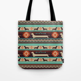 Boho dogs | Smooth Dachshund sunset Tote Bag