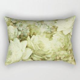 white climbing rose Rectangular Pillow