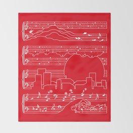 Moonlight Sonata Red Throw Blanket