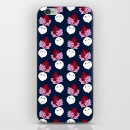 Cute white beetroots iPhone Skin