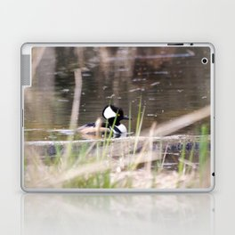 Hooded Merganser Swims Laptop & iPad Skin