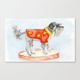 Starry Scruffy Schnauzer Canvas Print