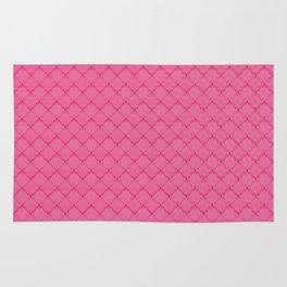 A bright pink geometric pattern 2 Rug