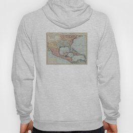 Vintage Map of The Gulf of Mexico (1732) Hoody