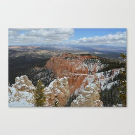 Snow in Bryce Canyon Utah Canvas Print