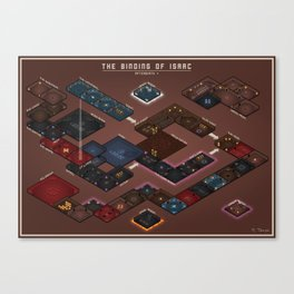 The Binding of Isaac - Floor Plan Canvas Print