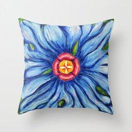 Beaux Arts Blue  Throw Pillow