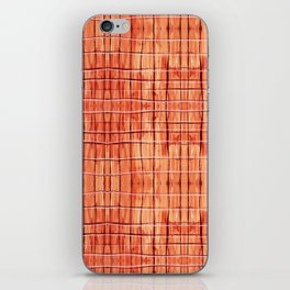 Red Chile Plaid iPhone Skin
