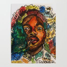 rapper,lyric,smoke,wall art,fan art,music,hiphop,rap,rapper,legend,shirt,print,chancee Poster