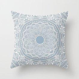 Dedication to Dalton (gray-blue) Throw Pillow