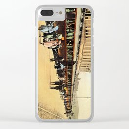 1900s Haydarpasa railroad station, train Clear iPhone Case
