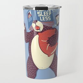 How To Sleep Less Book Travel Mug