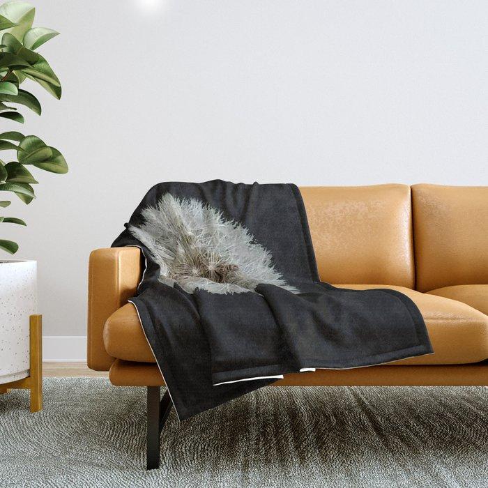 Dandelion Love Throw Blanket